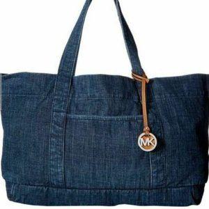 Michael Kors X-Large Indigo Denim Tote Bag